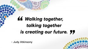 Walking together, talking together is creating out future.
